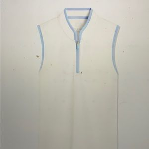 Tory Sport Sleeveless Half Zip